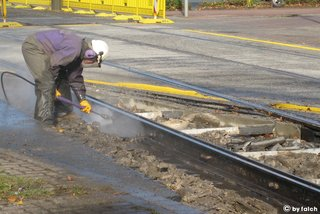 railway cleaning with high pressure water jetting