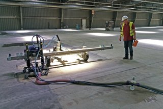 renovation floors with jetting robot