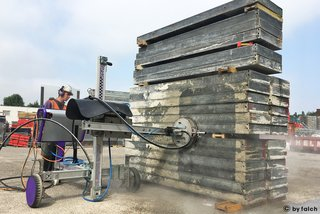 formwork cleaning with water jetting