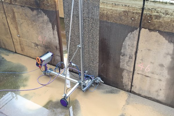 concrete renovation in sewage treatment plant